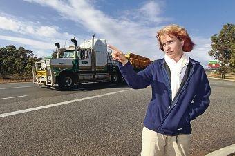 Bullsbrook resident Helen Keillor has welcomed road and lighting upgrades. Picture: Bruce Hunt www.communitypix.com.au d404485