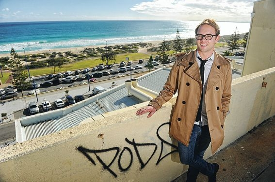 I-Spy Perth director Robert Redmond atop the multi-storey carpark in Scarborough where he plans to host a rooftop cinema. Picture: Marcus Whisson www.communitypix.com.au d404978