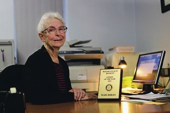 Mary Ridley has put her computer skills to good use at Belmont Senior Citizens Club.