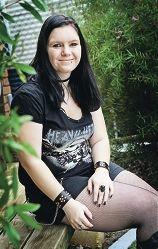 Metal fan and fundraiser Hydee Douglas.