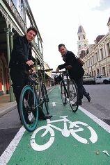 Greens senator Scott Ludlam and Fremantle Mayor Brad Pettitt have big plans for a more bike-friendly Fremantle.