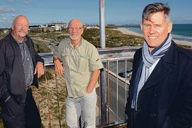North Fremantle councillors Robert Fittock, Doug Thompson and Fremantle Mayor Brad Pettitt.