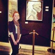 Winning artist Jasmine Langley.