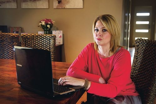 Jennifer Elder says the Education Department is letting her son down. Picture: Emma Reeves d404890