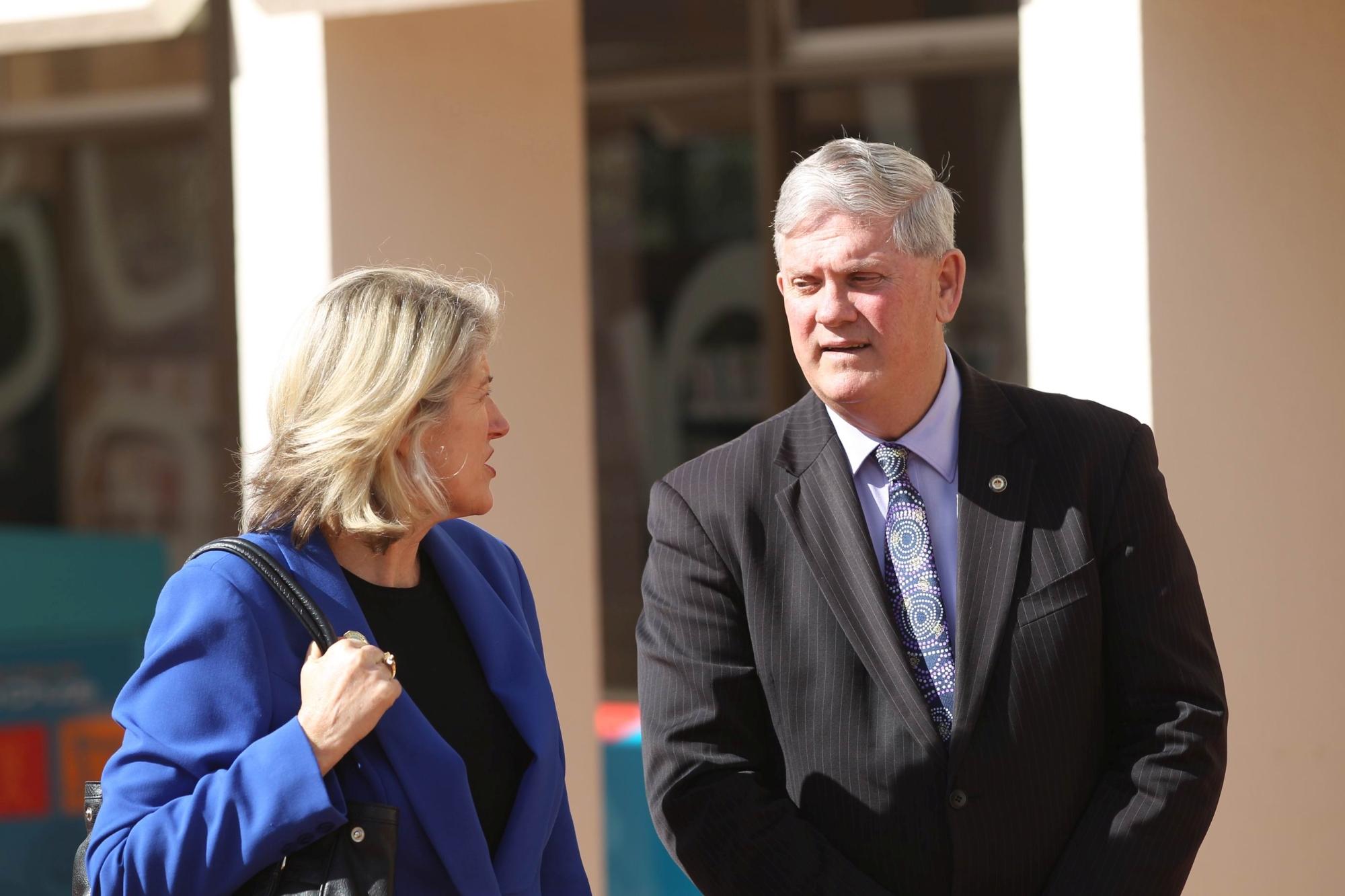 Kwinana Mayor Carol Adams and Cockburn Mayor Logan Howlett. d404960