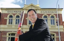 Fremantle Chamber of Commerce chief executive Tim Milsom will pad up for the Enlightenment Cup. Picture: Martin Kennealey d405195