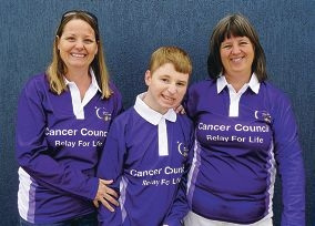 Trish Blasdale, Ashley Deany and Jennifer Bradford looking the part ahead of the Joondalup-Wanneroo Relay for Life in October.