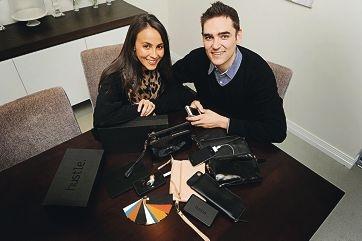 Hustle bag designers Lisa and John Winters.