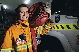 Baldivis Bush Fire Brigade's Rik Mills is a finalist in the 2013 |Firefighting Awards. Picture: Elle Borgward d405382