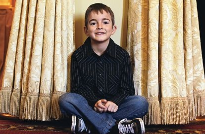 Lachlan Quartermaine asked people invited to his ninth birthday to bring pasta and socks instead of gifts.Picture: Elle Borgward www.communitypix.com.au d405198