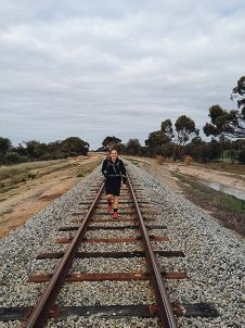 Kelsie Davis in training for her trek along the Kokoda Trail.
