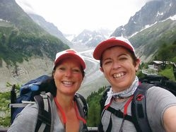 Moira Clay and Karin Smith tackled the highest peak in the Italian Alps.