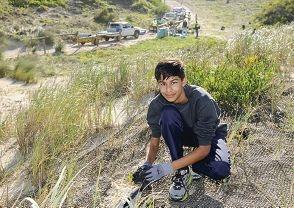 Volunteers pitch in to restore beach dunes