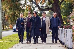 A group of middle aged former high school buddies reunites in sci-fi comedy The World's End.
