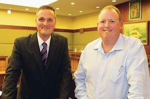 New Baldivis Ward councillor Matthew Whitfield and new Comet Bay councillor Justin Smith.