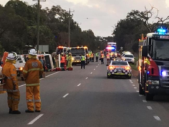 Muchea bus crash: woman recovering in hospital following roll over on Great Northern Hwy