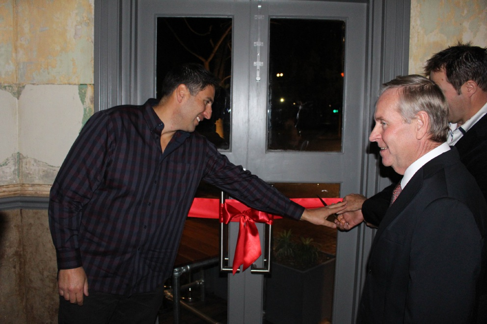 Guildford Hotel opening: Premier lets down hair