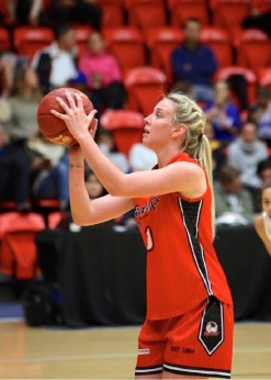 US-born import Jourdan DeMuynck averages 26.5 points per game. Below: Women's captain Jess Jakens has played one of her best seasons this year. Pictures: Clare Chappell