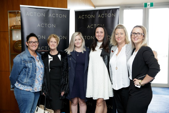 Acton Rockingham's Ally Lowry (left), Liz McLoughlin, Shaye Schofield, Lara Korb, Paula Barden and Madhu De La Rou. Below: Anna Gare  and a copy of her book.
