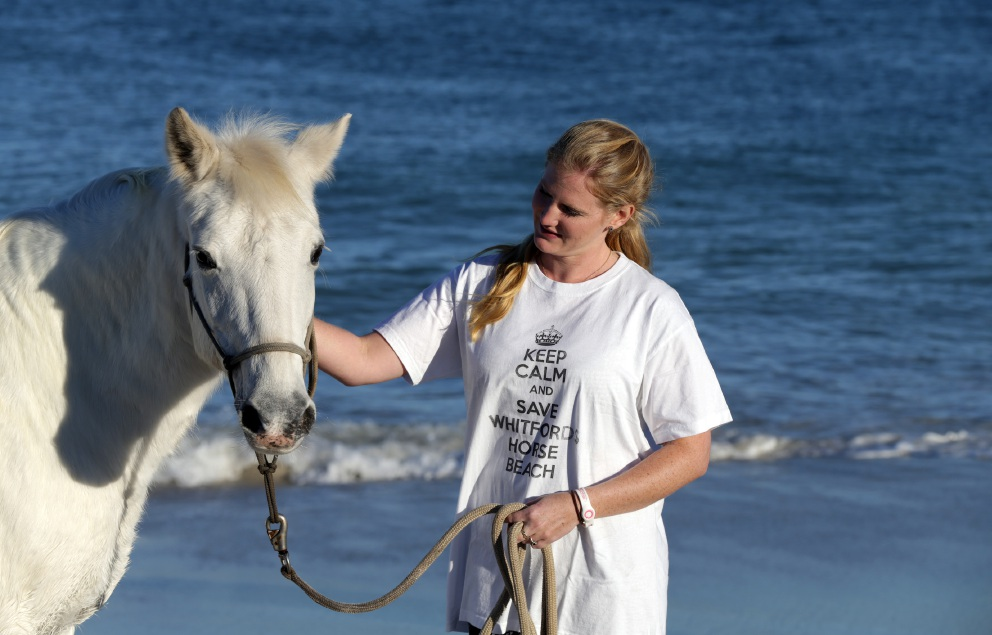 Sarah Bevan with horse Lucy. Picture: Martin Kennealey   d454896