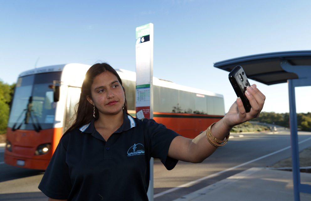 Year 10 student Jasmine Nazir will be facing a long commute.  Picture: Martin Kennealey www.communitypix.com.au   d455022