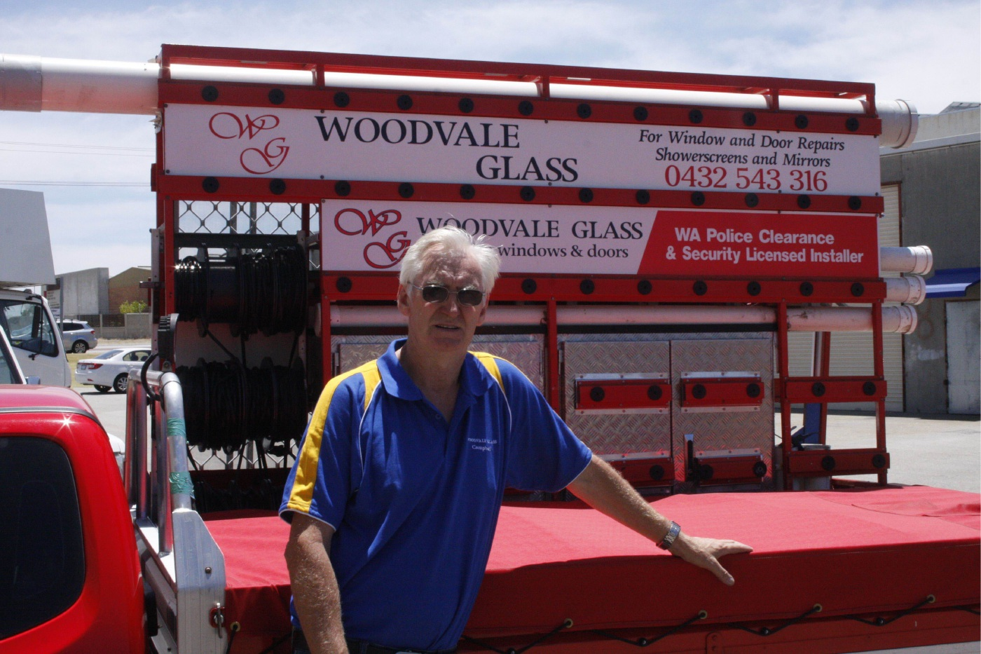 Campbell Pudney was the first glazier in Australia to get certified.