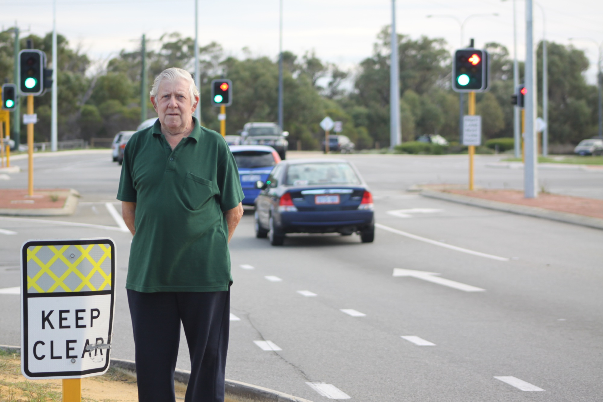 Rockingham resident Les Howard believes the intersection between Rockingham and Kwinana is dangerous