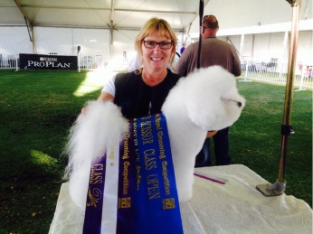 Helen Forester at a previous grooming competition.