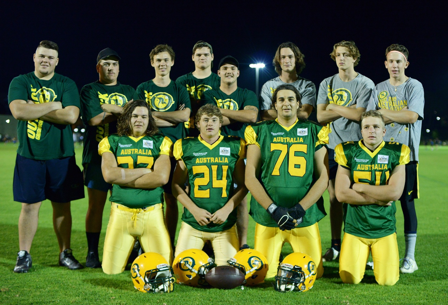 The Australian gridiron team.