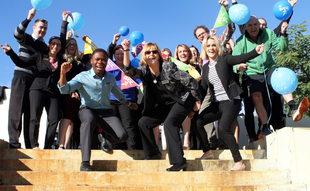 Rosmoyne Senior High School staff will take part in the Global Corporate Challenge. Picture: Robin Kornet        d454816