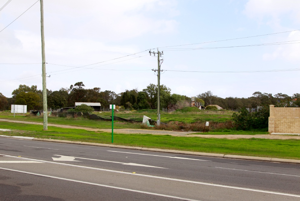 The area near the corner of Burslem Drive and Olga Road.