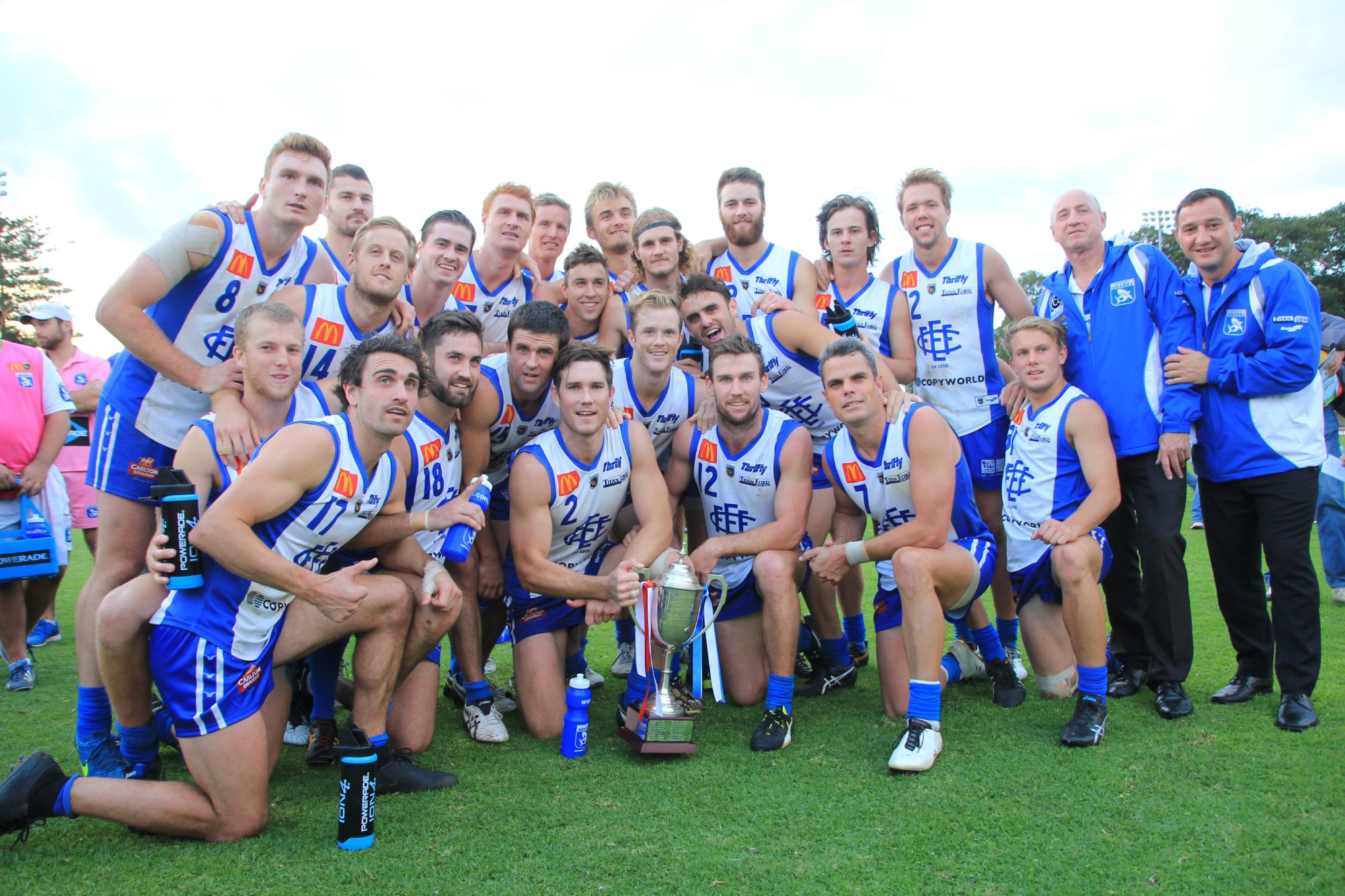 East Fremantle celebrates its derby win at Fremantle Oval on Monday. Picture: Phil Elliott/ PixEll Photography.