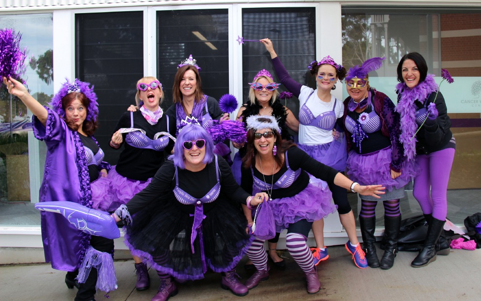 Purple Bra Day is the biggest fundraiser of the year for Breast Cancer Care WA.