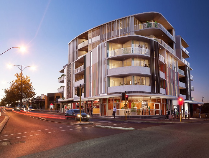 How both the interior and exterior of a North Perth apartment development is planned to look.