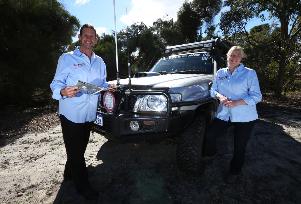 Husband and wife duo Geoff and Gillian Robb of Bullcreek are taking part in the 20th anniversary of the Variety 4WD Challenge. Picture: Matt Jelonek d454148