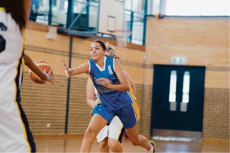 14-year-old basketball talent Nes'eya Williams.
