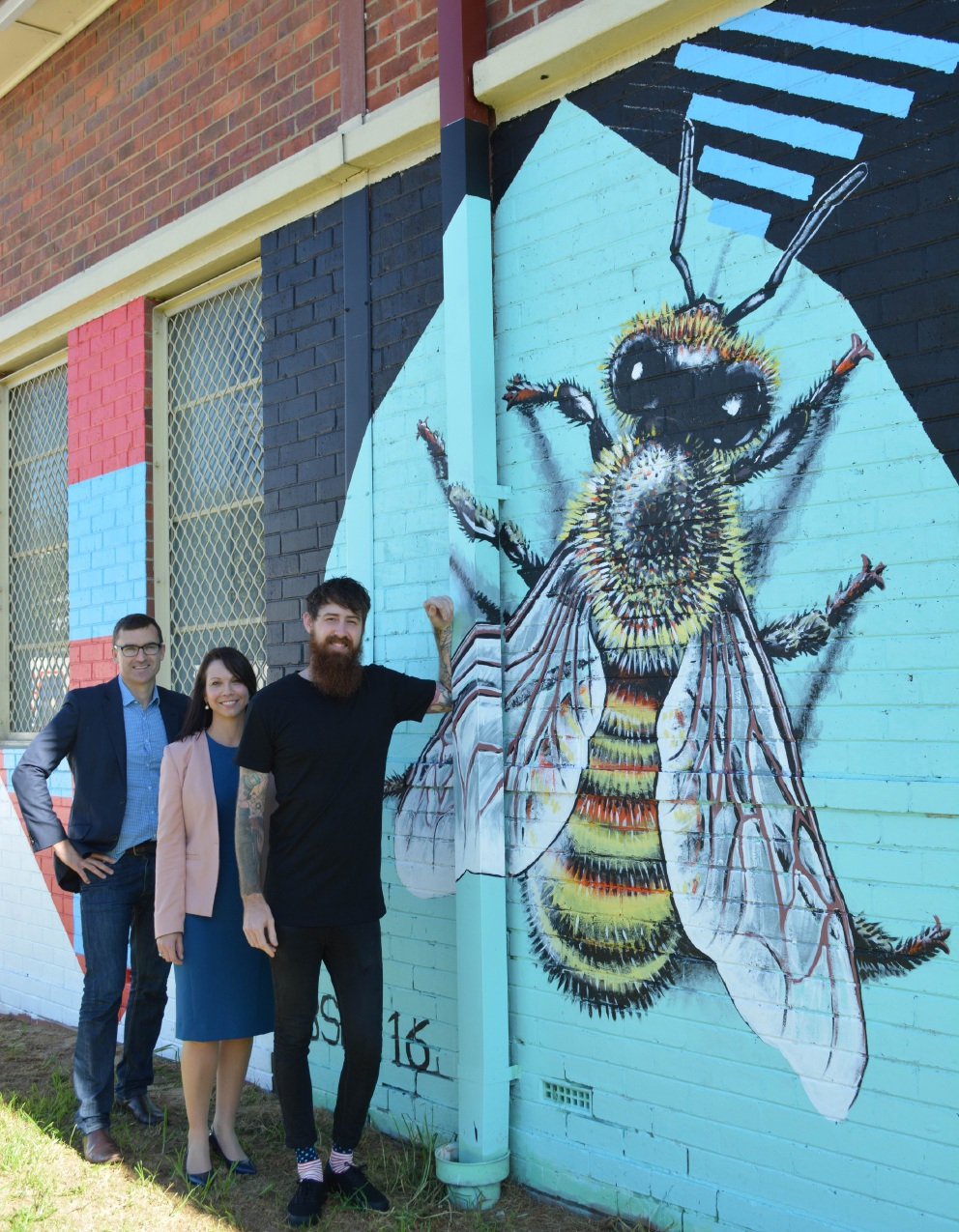 North Perth telephone exchange gets facelift from artist Brenton See