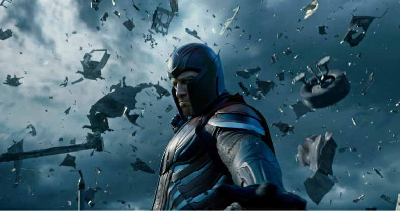 Michael Fassbender as Magneto in X-Men: Apocalypse.