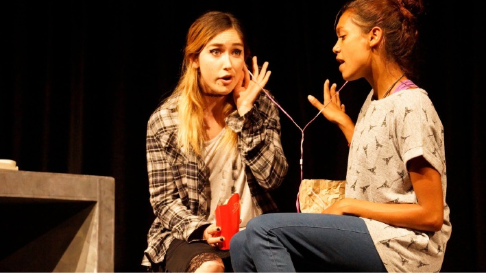 Xanthe Paige (left) as Erica in Sugarland.