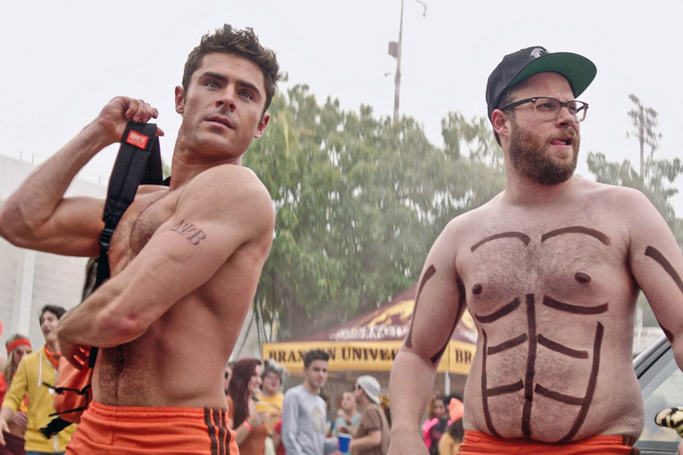 Zac Efron and Seth Rogen.