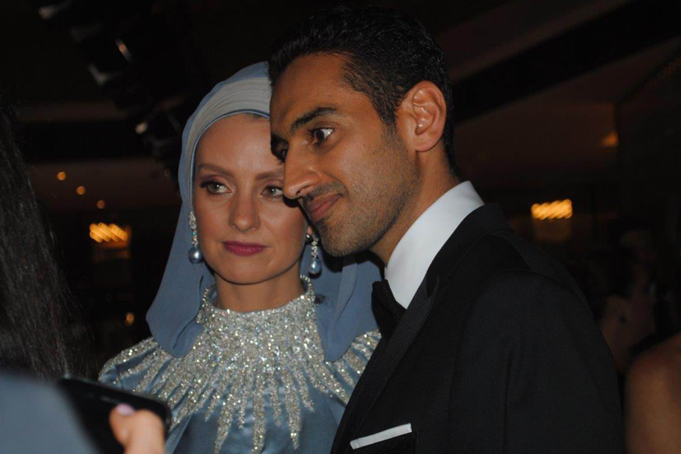 Gold Logie winner Waleed Aly and wife Susan Carland.
