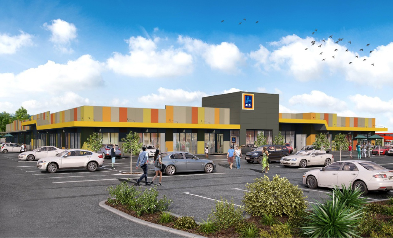 An artist's impression of the Wattle Grove shopping centre, due to open in mid-2016.