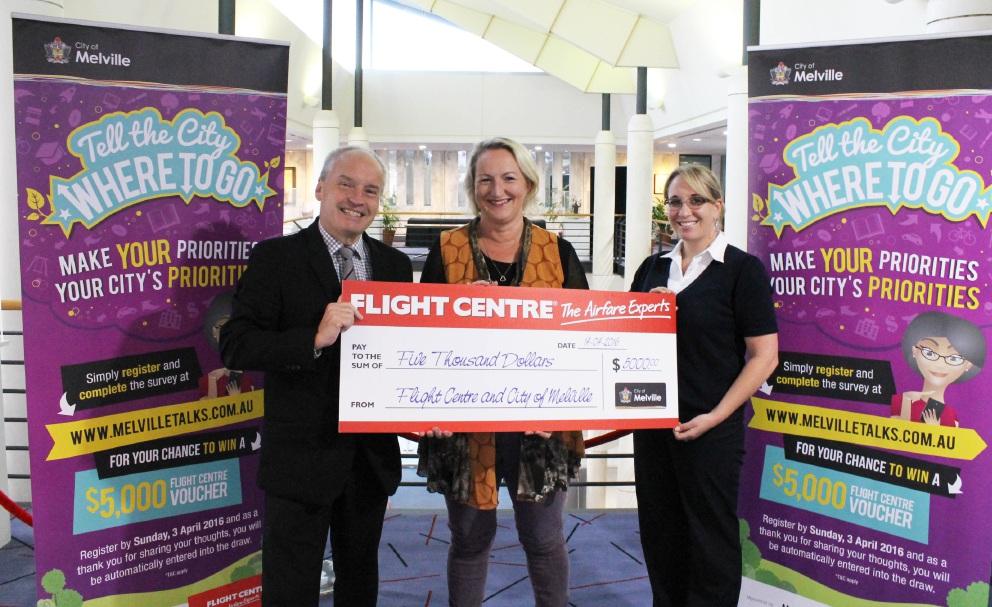 Marianne Dravnieks won a $5000 Flight Centre voucher for completing a City of Melville survey.
