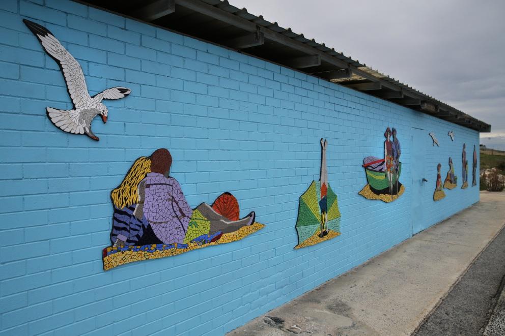 Mosaics depict histiry of Quinns Rock