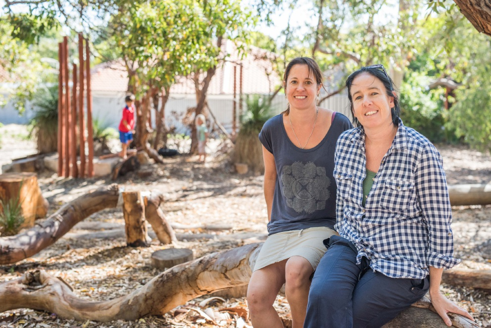 Palmyra residents Anita Manes and Jill Willetts are pleased with the progress of Solomon Street Bush Park.