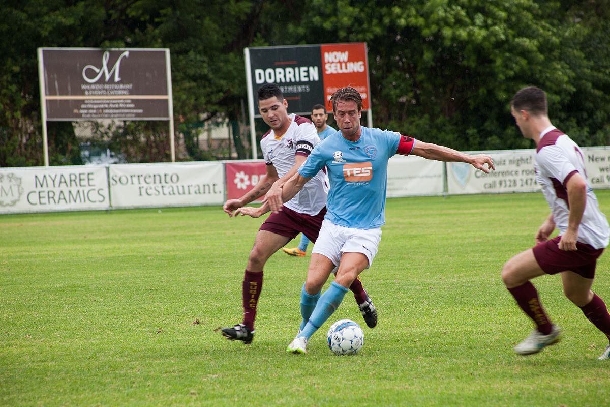 Perth SC captain Clark Keltie.