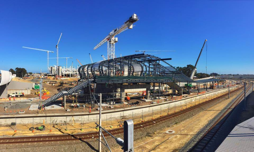Perth Stadium Station. Picture: Jon Hewson