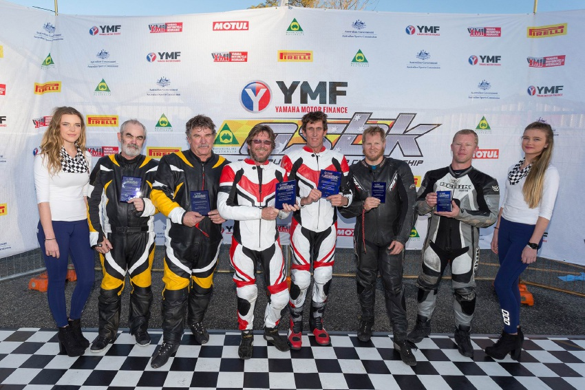 The Sidecar Challenge podium. Picture: Andrew Gosling/tbgsport