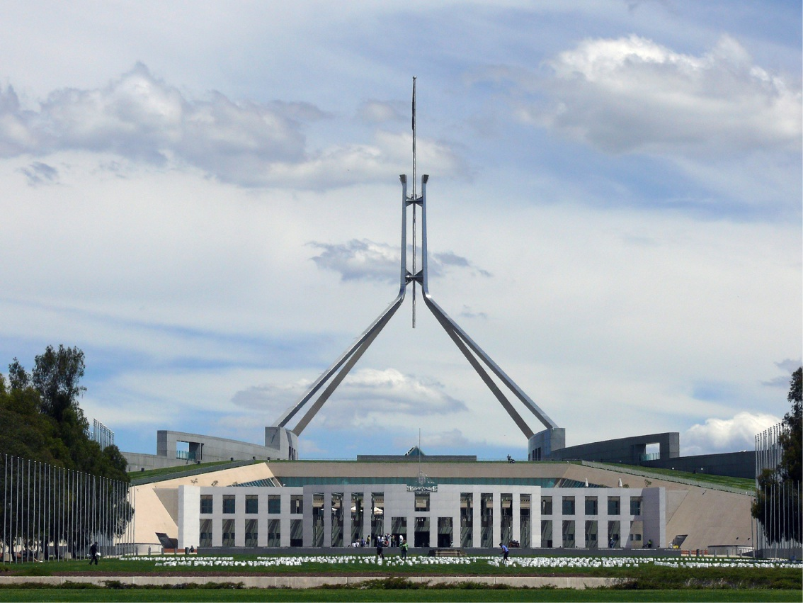 Parliament House in Canberra.