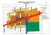 A map of the proposed height restrictions in the Melville District Centre.